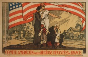 French WW1 poster - Comité Americain